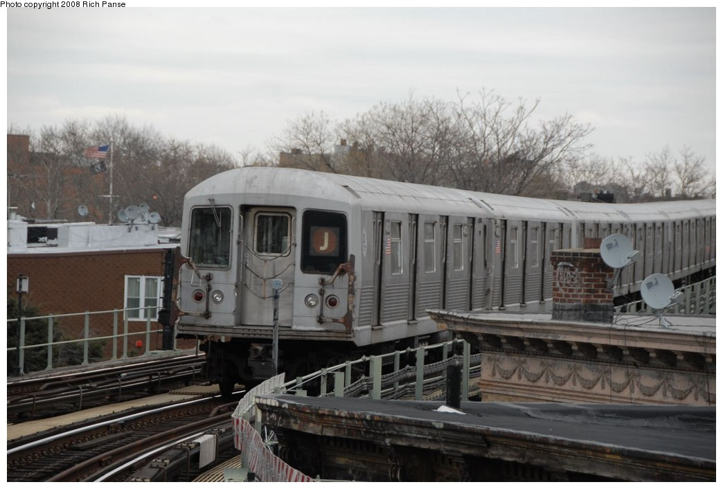 (189k, 1044x706)<br><b>Country:</b> United States<br><b>City:</b> New York<br><b>System:</b> New York City Transit<br><b>Line:</b> BMT Myrtle Avenue Line<br><b>Location:</b> Seneca Avenue <br><b>Route:</b> J reroute.<br><b>Car:</b> R-42 (St. Louis, 1969-1970)  4813 <br><b>Photo by:</b> Richard Panse<br><b>Date:</b> 2/17/2008<br><b>Viewed (this week/total):</b> 1 / 1348