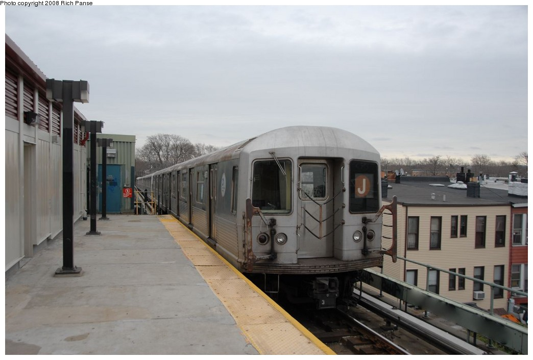 (133k, 1044x706)<br><b>Country:</b> United States<br><b>City:</b> New York<br><b>System:</b> New York City Transit<br><b>Line:</b> BMT Myrtle Avenue Line<br><b>Location:</b> Fresh Pond Road <br><b>Route:</b> J reroute.<br><b>Car:</b> R-42 (St. Louis, 1969-1970)  4670 <br><b>Photo by:</b> Richard Panse<br><b>Date:</b> 2/17/2008<br><b>Viewed (this week/total):</b> 0 / 1723