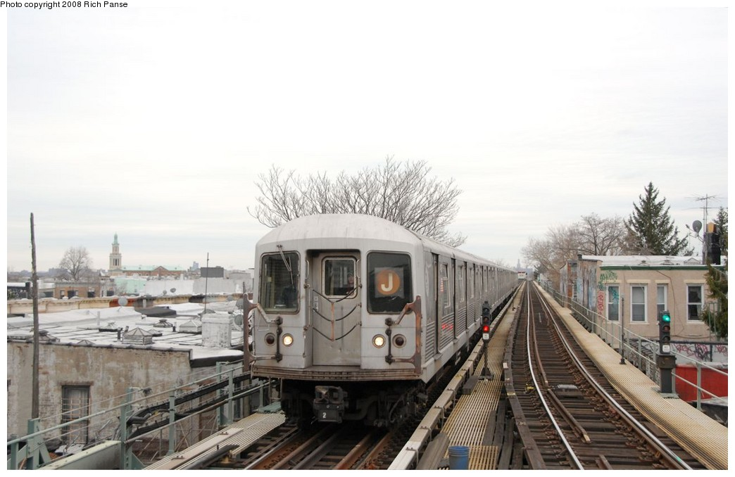 (153k, 1044x678)<br><b>Country:</b> United States<br><b>City:</b> New York<br><b>System:</b> New York City Transit<br><b>Line:</b> BMT Myrtle Avenue Line<br><b>Location:</b> Fresh Pond Road <br><b>Route:</b> J reroute.<br><b>Car:</b> R-42 (St. Louis, 1969-1970)  4623 <br><b>Photo by:</b> Richard Panse<br><b>Date:</b> 2/17/2008<br><b>Viewed (this week/total):</b> 3 / 1882