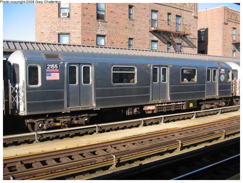 (188k, 820x620)<br><b>Country:</b> United States<br><b>City:</b> New York<br><b>System:</b> New York City Transit<br><b>Line:</b> IRT Flushing Line<br><b>Location:</b> 52nd Street/Lincoln Avenue <br><b>Route:</b> 7<br><b>Car:</b> R-62A (Bombardier, 1984-1987)  2155 <br><b>Photo by:</b> Gary Chatterton<br><b>Date:</b> 2/14/2008<br><b>Viewed (this week/total):</b> 1 / 1577