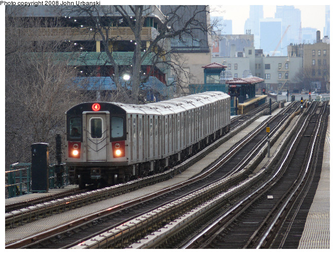 (169k, 660x500)<br><b>Country:</b> United States<br><b>City:</b> New York<br><b>System:</b> New York City Transit<br><b>Line:</b> IRT Woodlawn Line<br><b>Location:</b> Fordham Road <br><b>Route:</b> 4<br><b>Car:</b> R-142 or R-142A (Number Unknown)  <br><b>Photo by:</b> John Urbanski<br><b>Date:</b> 2/19/2008<br><b>Viewed (this week/total):</b> 0 / 2374