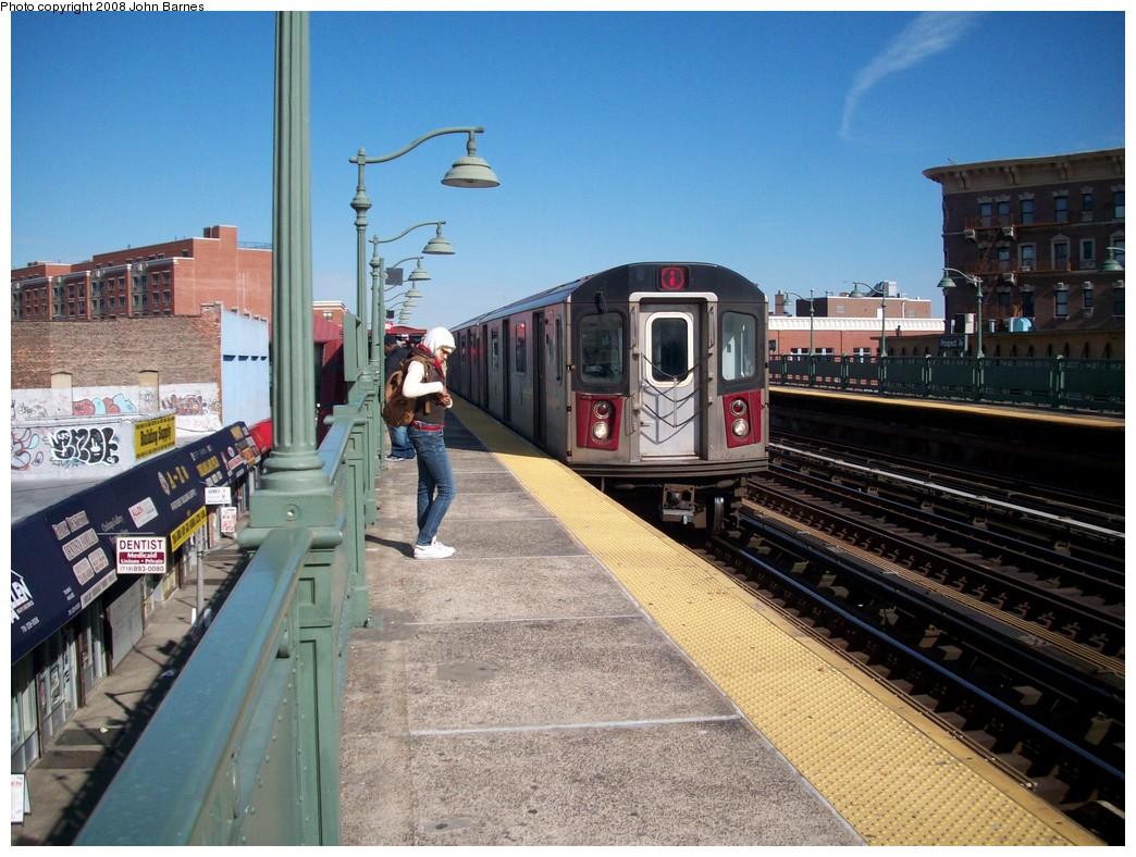 (249k, 1044x788)<br><b>Country:</b> United States<br><b>City:</b> New York<br><b>System:</b> New York City Transit<br><b>Line:</b> IRT White Plains Road Line<br><b>Location:</b> Prospect Avenue <br><b>Route:</b> 2<br><b>Car:</b> R-142 or R-142A (Number Unknown)  <br><b>Photo by:</b> John Barnes<br><b>Date:</b> 2/20/2008<br><b>Viewed (this week/total):</b> 2 / 3305
