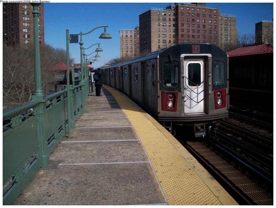 (245k, 1044x788)<br><b>Country:</b> United States<br><b>City:</b> New York<br><b>System:</b> New York City Transit<br><b>Line:</b> IRT White Plains Road Line<br><b>Location:</b> Jackson Avenue <br><b>Route:</b> 5<br><b>Car:</b> R-142 (Primary Order, Bombardier, 1999-2002)  6496 <br><b>Photo by:</b> John Barnes<br><b>Date:</b> 2/20/2008<br><b>Viewed (this week/total):</b> 0 / 3343