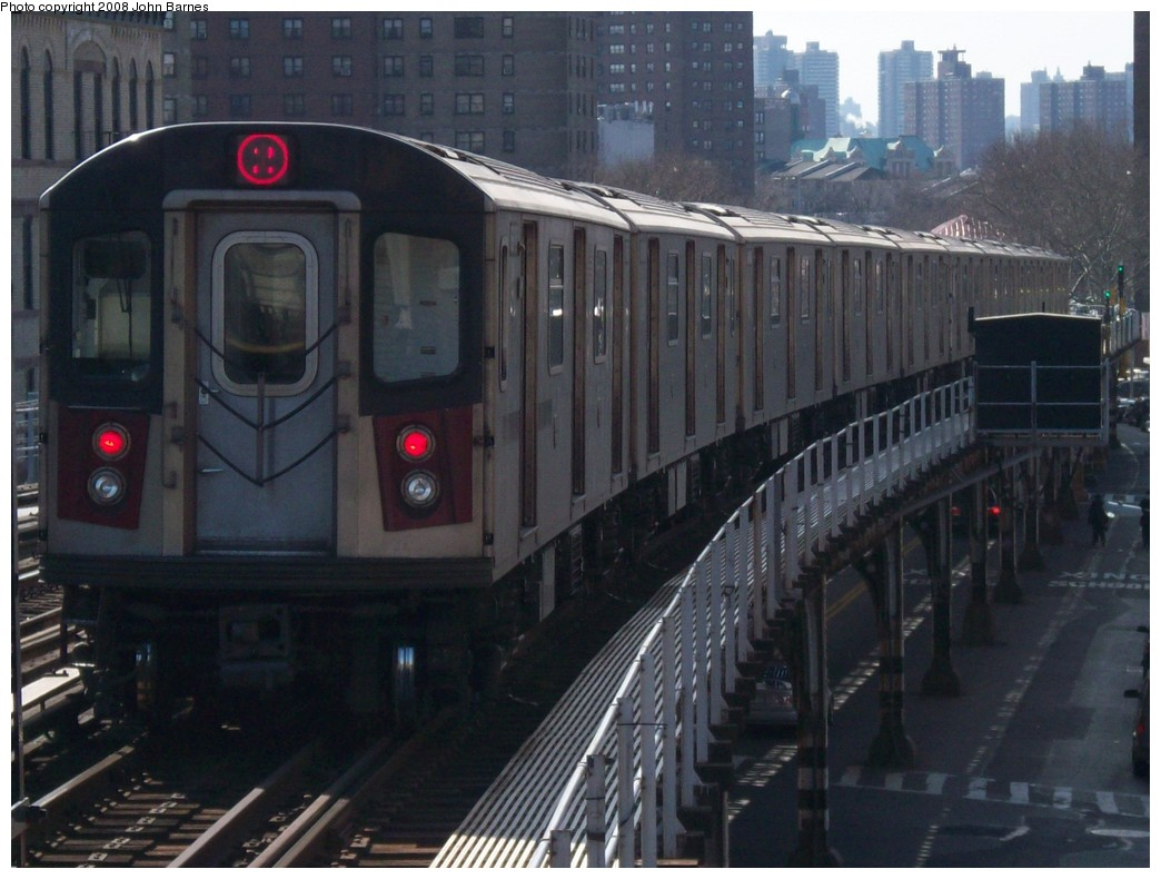 (195k, 1044x790)<br><b>Country:</b> United States<br><b>City:</b> New York<br><b>System:</b> New York City Transit<br><b>Line:</b> IRT White Plains Road Line<br><b>Location:</b> Prospect Avenue <br><b>Route:</b> 2<br><b>Car:</b> R-142 (Primary Order, Bombardier, 1999-2002)  6415 <br><b>Photo by:</b> John Barnes<br><b>Date:</b> 2/20/2008<br><b>Viewed (this week/total):</b> 6 / 3056