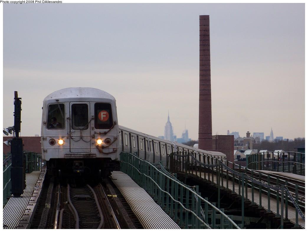 (174k, 1044x788)<br><b>Country:</b> United States<br><b>City:</b> New York<br><b>System:</b> New York City Transit<br><b>Line:</b> BMT Culver Line<br><b>Location:</b> Neptune Avenue <br><b>Route:</b> F<br><b>Car:</b> R-46 (Pullman-Standard, 1974-75) 5908 <br><b>Photo by:</b> Philip D'Allesandro<br><b>Date:</b> 2/20/2008<br><b>Viewed (this week/total):</b> 1 / 1735