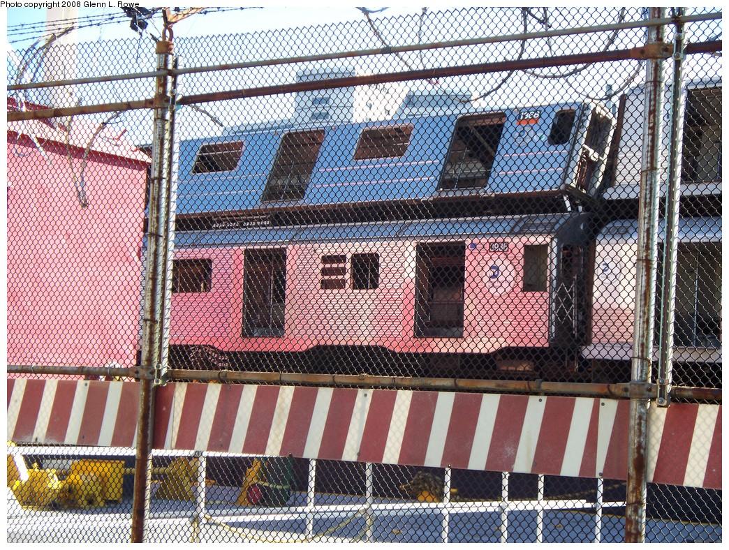 (451k, 1044x788)<br><b>Country:</b> United States<br><b>City:</b> New York<br><b>System:</b> New York City Transit<br><b>Location:</b> 207th Street Yard<br><b>Car:</b> R-62 (Kawasaki, 1983-1985)  1368 <br><b>Photo by:</b> Glenn L. Rowe<br><b>Date:</b> 2/21/2008<br><b>Notes:</b> With R32 3936<br><b>Viewed (this week/total):</b> 0 / 3038