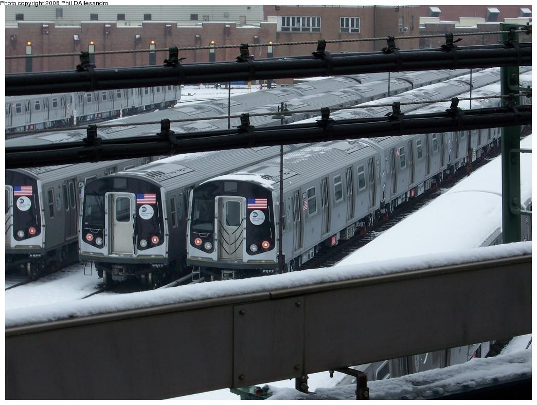 (214k, 1044x788)<br><b>Country:</b> United States<br><b>City:</b> New York<br><b>System:</b> New York City Transit<br><b>Location:</b> East New York Yard/Shops<br><b>Car:</b> R-160A-1 (Alstom, 2005-2008, 4 car sets)  8441 <br><b>Photo by:</b> Philip D'Allesandro<br><b>Date:</b> 2/22/2008<br><b>Viewed (this week/total):</b> 0 / 2647