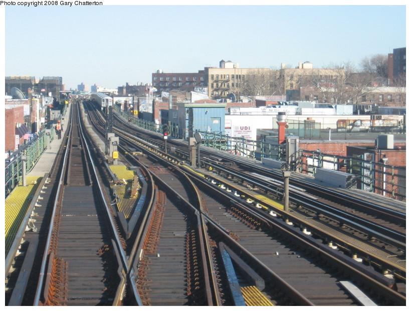 (161k, 820x620)<br><b>Country:</b> United States<br><b>City:</b> New York<br><b>System:</b> New York City Transit<br><b>Line:</b> IRT Flushing Line<br><b>Location:</b> 74th Street/Broadway <br><b>Photo by:</b> Gary Chatterton<br><b>Date:</b> 2/14/2008<br><b>Notes:</b> New Switch Track East of 74 Street Station, Express-S/B Local<br><b>Viewed (this week/total):</b> 0 / 1487