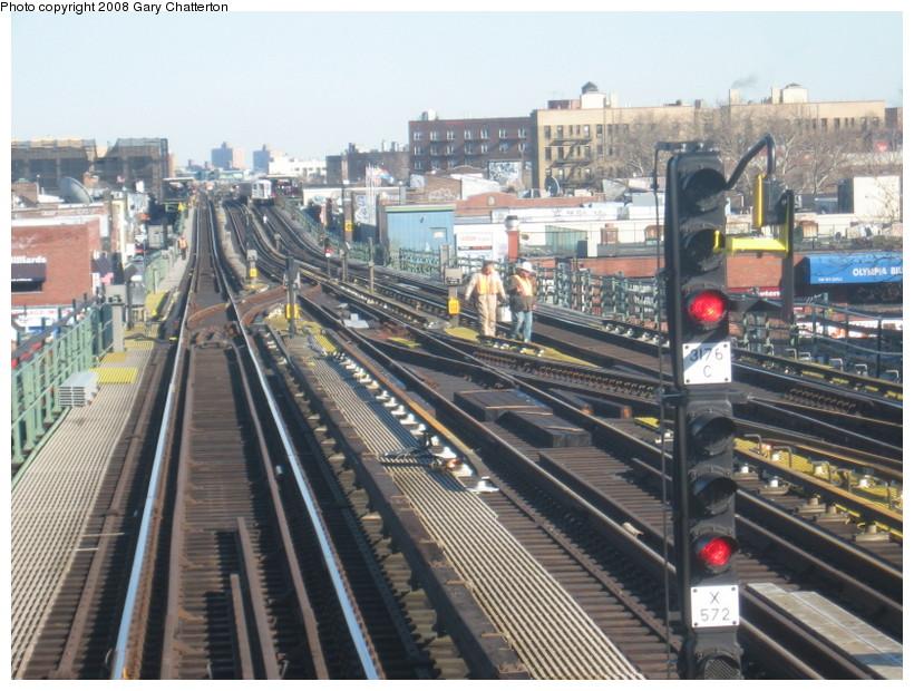 (169k, 820x620)<br><b>Country:</b> United States<br><b>City:</b> New York<br><b>System:</b> New York City Transit<br><b>Line:</b> IRT Flushing Line<br><b>Location:</b> 74th Street/Broadway <br><b>Photo by:</b> Gary Chatterton<br><b>Date:</b> 2/14/2008<br><b>Notes:</b> New Switch Track East of 74 Street Station, N/B Local-Express<br><b>Viewed (this week/total):</b> 0 / 1164