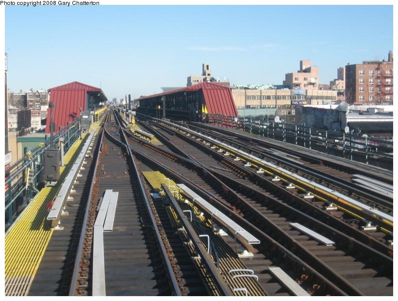 (161k, 820x620)<br><b>Country:</b> United States<br><b>City:</b> New York<br><b>System:</b> New York City Transit<br><b>Line:</b> IRT Flushing Line<br><b>Location:</b> 74th Street/Broadway <br><b>Photo by:</b> Gary Chatterton<br><b>Date:</b> 2/14/2008<br><b>Notes:</b> New Switch Track West of 74 St Station, S/B Local-Express<br><b>Viewed (this week/total):</b> 2 / 1107
