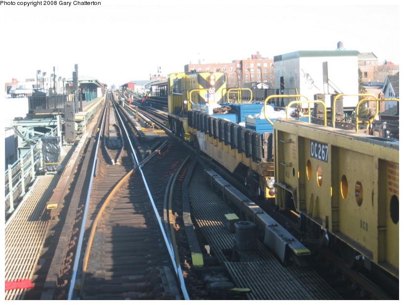 (137k, 820x620)<br><b>Country:</b> United States<br><b>City:</b> New York<br><b>System:</b> New York City Transit<br><b>Line:</b> IRT Flushing Line<br><b>Location:</b> 69th Street/Fisk Avenue <br><b>Photo by:</b> Gary Chatterton<br><b>Date:</b> 2/14/2008<br><b>Notes:</b> Old Switch Replacement West of 69 Street Station<br><b>Viewed (this week/total):</b> 2 / 1311