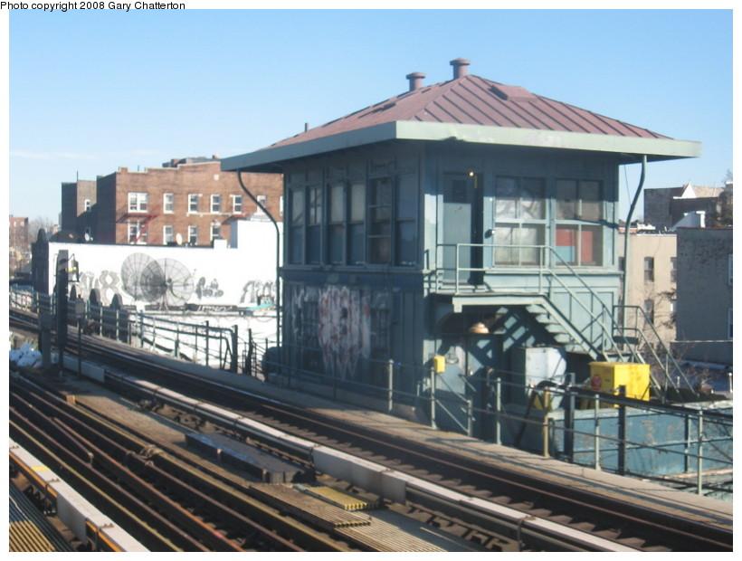 (136k, 820x620)<br><b>Country:</b> United States<br><b>City:</b> New York<br><b>System:</b> New York City Transit<br><b>Line:</b> IRT Flushing Line<br><b>Location:</b> 69th Street/Fisk Avenue <br><b>Photo by:</b> Gary Chatterton<br><b>Date:</b> 2/14/2008<br><b>Notes:</b> Fisk Tower-- 65 St Roosevelt Ave<br><b>Viewed (this week/total):</b> 0 / 1173