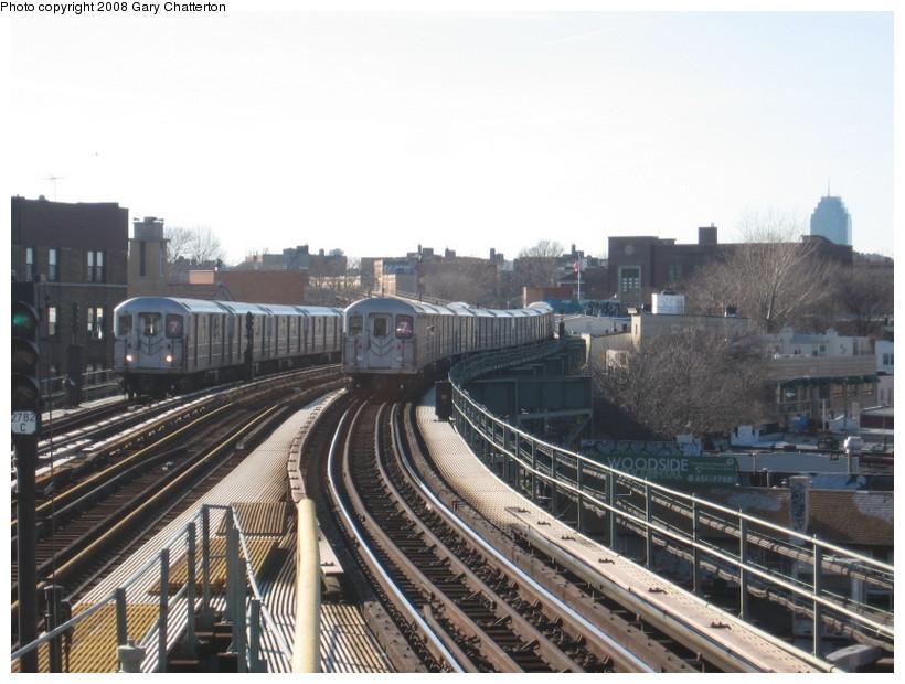 (139k, 820x620)<br><b>Country:</b> United States<br><b>City:</b> New York<br><b>System:</b> New York City Transit<br><b>Line:</b> IRT Flushing Line<br><b>Location:</b> 61st Street/Woodside <br><b>Route:</b> 7<br><b>Car:</b> R-62A (Bombardier, 1984-1987)  1904/2120 <br><b>Photo by:</b> Gary Chatterton<br><b>Date:</b> 2/14/2008<br><b>Viewed (this week/total):</b> 1 / 2150