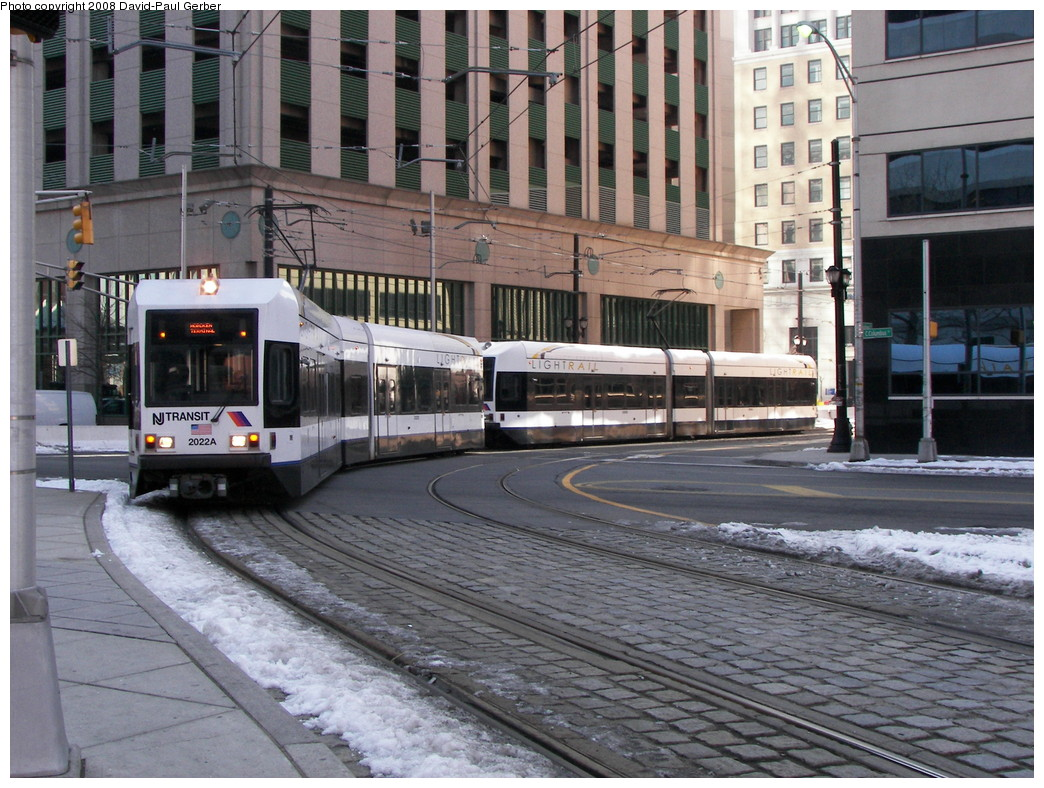 (313k, 1044x788)<br><b>Country:</b> United States<br><b>City:</b> Jersey City, NJ<br><b>System:</b> Hudson Bergen Light Rail<br><b>Location:</b> Exchange Place <br><b>Car:</b> NJT-HBLR LRV (Kinki-Sharyo, 1998-99)  2022 <br><b>Photo by:</b> David-Paul Gerber<br><b>Date:</b> 2/25/2008<br><b>Viewed (this week/total):</b> 1 / 1405