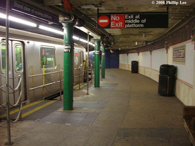 (93k, 800x600)<br><b>Country:</b> United States<br><b>City:</b> New York<br><b>System:</b> New York City Transit<br><b>Line:</b> IRT West Side Line<br><b>Location:</b> South Ferry (Outer Loop Station) <br><b>Route:</b> 1<br><b>Car:</b> R-62A (Bombardier, 1984-1987)  2372 <br><b>Photo by:</b> Phillip Lee<br><b>Date:</b> 1/17/2008<br><b>Viewed (this week/total):</b> 1 / 4045