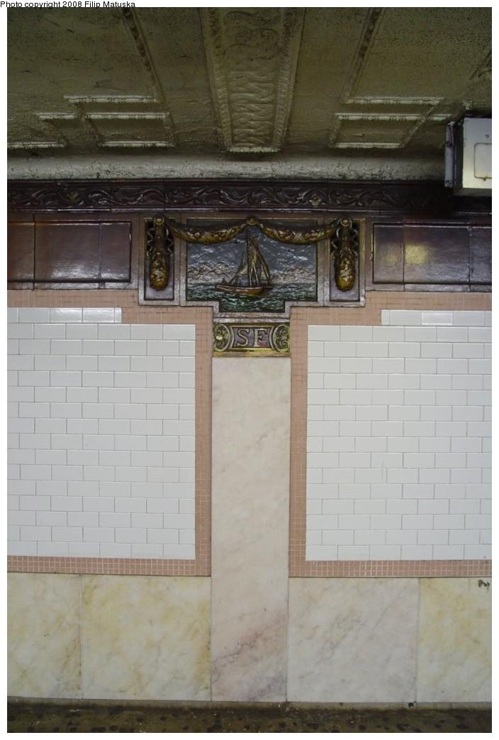 (150k, 704x1044)<br><b>Country:</b> United States<br><b>City:</b> New York<br><b>System:</b> New York City Transit<br><b>Line:</b> IRT West Side Line<br><b>Location:</b> South Ferry (Outer Loop Station) <br><b>Photo by:</b> Filip Matuska<br><b>Date:</b> 6/6/2007<br><b>Viewed (this week/total):</b> 0 / 1159