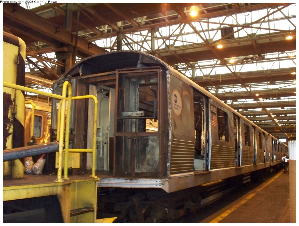 (250k, 1044x788)<br><b>Country:</b> United States<br><b>City:</b> New York<br><b>System:</b> New York City Transit<br><b>Location:</b> 207th Street Shop<br><b>Car:</b> R-42 (St. Louis, 1969-1970)  4818 <br><b>Photo by:</b> Glenn L. Rowe<br><b>Date:</b> 2/26/2008<br><b>Viewed (this week/total):</b> 3 / 1062