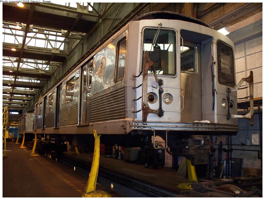 (254k, 1044x788)<br><b>Country:</b> United States<br><b>City:</b> New York<br><b>System:</b> New York City Transit<br><b>Location:</b> 207th Street Shop<br><b>Car:</b> R-42 (St. Louis, 1969-1970)  4941 <br><b>Photo by:</b> Glenn L. Rowe<br><b>Date:</b> 2/29/2008<br><b>Viewed (this week/total):</b> 0 / 1316