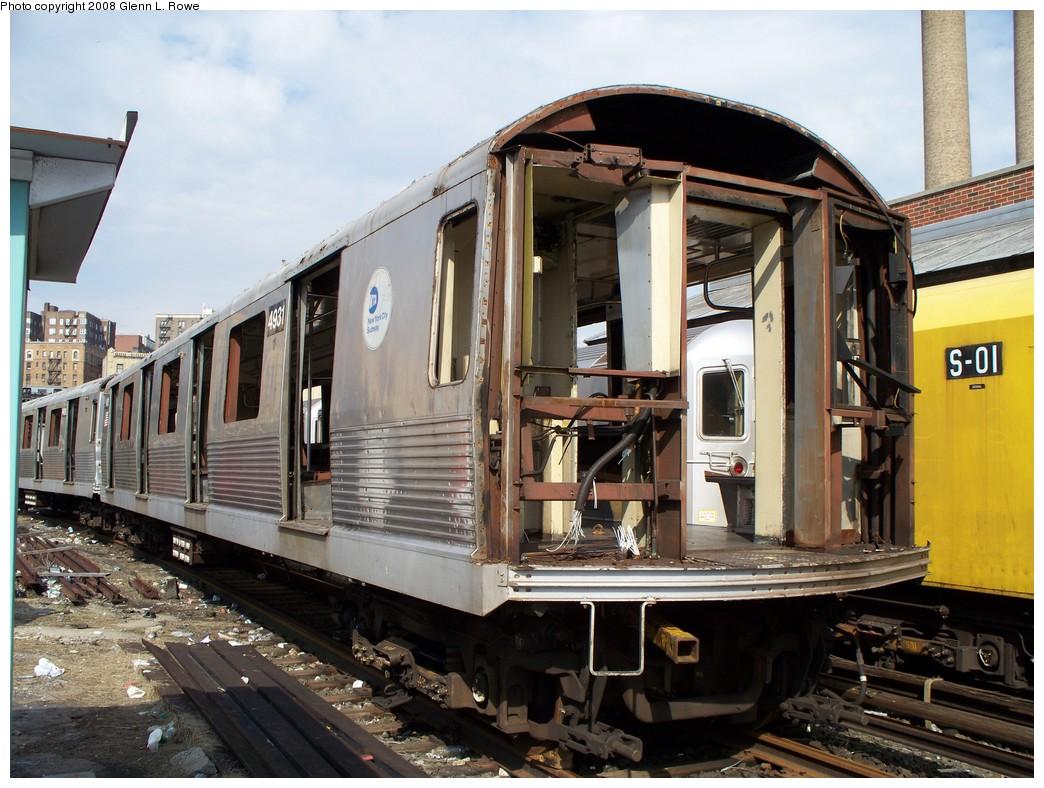 (240k, 1044x788)<br><b>Country:</b> United States<br><b>City:</b> New York<br><b>System:</b> New York City Transit<br><b>Location:</b> 207th Street Yard<br><b>Car:</b> R-42 (St. Louis, 1969-1970)  4931 <br><b>Photo by:</b> Glenn L. Rowe<br><b>Date:</b> 3/3/2008<br><b>Viewed (this week/total):</b> 0 / 1370