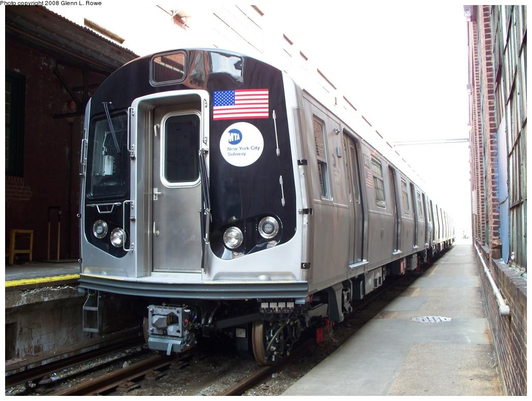 (209k, 1044x788)<br><b>Country:</b> United States<br><b>City:</b> New York<br><b>System:</b> New York City Transit<br><b>Location:</b> 207th Street Yard<br><b>Car:</b> R-160A-1 (Alstom, 2005-2008, 4 car sets)  8477 <br><b>Photo by:</b> Glenn L. Rowe<br><b>Date:</b> 3/3/2008<br><b>Viewed (this week/total):</b> 2 / 1949