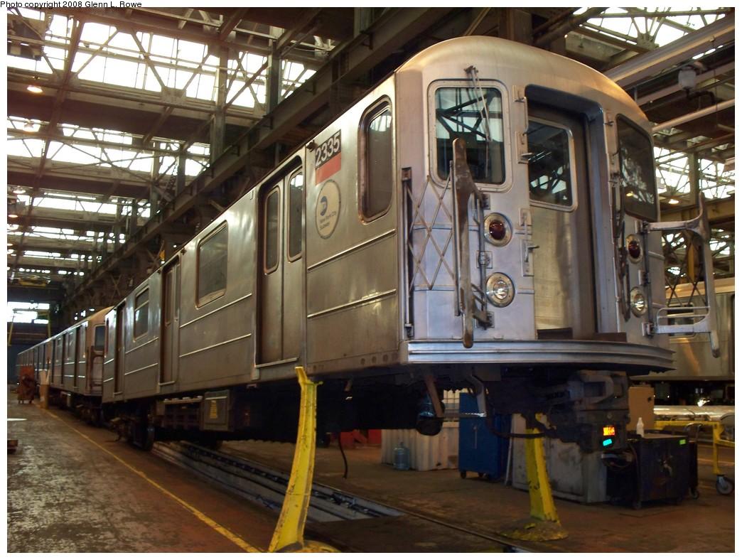 (239k, 1044x788)<br><b>Country:</b> United States<br><b>City:</b> New York<br><b>System:</b> New York City Transit<br><b>Location:</b> 207th Street Shop<br><b>Car:</b> R-62A (Bombardier, 1984-1987)  2335 <br><b>Photo by:</b> Glenn L. Rowe<br><b>Date:</b> 3/3/2008<br><b>Viewed (this week/total):</b> 0 / 1434
