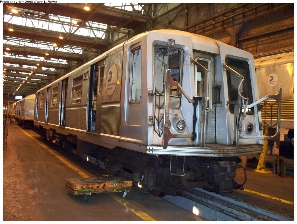 (248k, 1044x788)<br><b>Country:</b> United States<br><b>City:</b> New York<br><b>System:</b> New York City Transit<br><b>Location:</b> 207th Street Shop<br><b>Car:</b> R-40 (St. Louis, 1968)  4386 <br><b>Photo by:</b> Glenn L. Rowe<br><b>Date:</b> 3/4/2008<br><b>Viewed (this week/total):</b> 2 / 1160