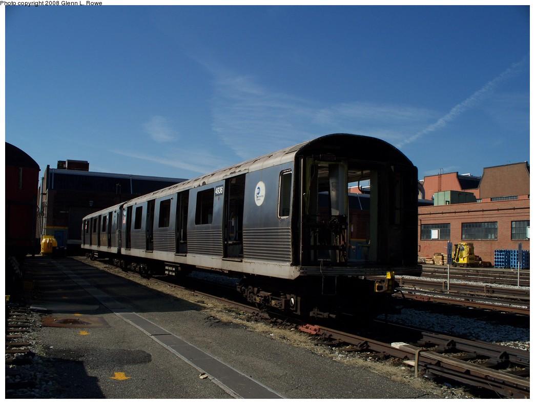 (194k, 1044x788)<br><b>Country:</b> United States<br><b>City:</b> New York<br><b>System:</b> New York City Transit<br><b>Location:</b> 207th Street Yard<br><b>Car:</b> R-42 (St. Louis, 1969-1970)  4936 <br><b>Photo by:</b> Glenn L. Rowe<br><b>Date:</b> 3/6/2008<br><b>Viewed (this week/total):</b> 0 / 1066