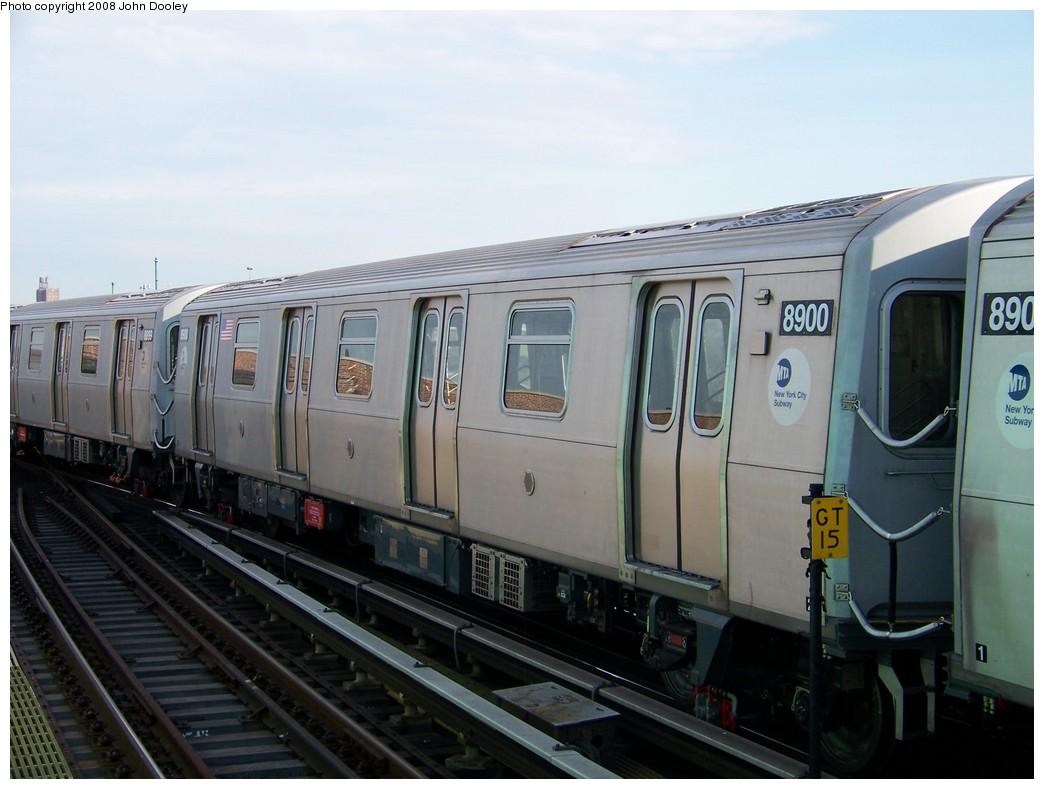 (175k, 1044x789)<br><b>Country:</b> United States<br><b>City:</b> New York<br><b>System:</b> New York City Transit<br><b>Location:</b> Coney Island/Stillwell Avenue<br><b>Route:</b> N<br><b>Car:</b> R-160B (Kawasaki, 2005-2008)  8900 <br><b>Photo by:</b> John Dooley<br><b>Date:</b> 3/3/2008<br><b>Viewed (this week/total):</b> 0 / 2123