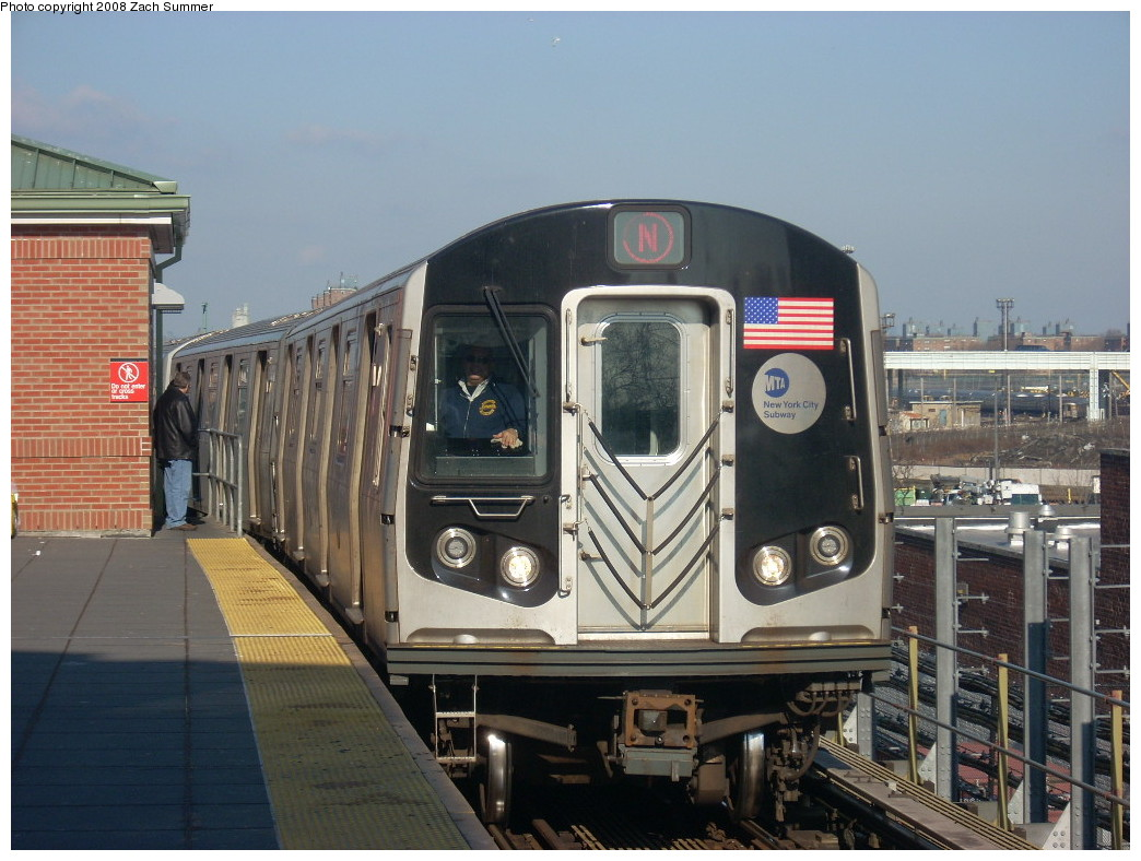 (250k, 1044x788)<br><b>Country:</b> United States<br><b>City:</b> New York<br><b>System:</b> New York City Transit<br><b>Location:</b> Coney Island/Stillwell Avenue<br><b>Route:</b> N<br><b>Car:</b> R-160B (Kawasaki, 2005-2008)  8718 <br><b>Photo by:</b> Zach Summer<br><b>Date:</b> 12/20/2007<br><b>Viewed (this week/total):</b> 0 / 1596
