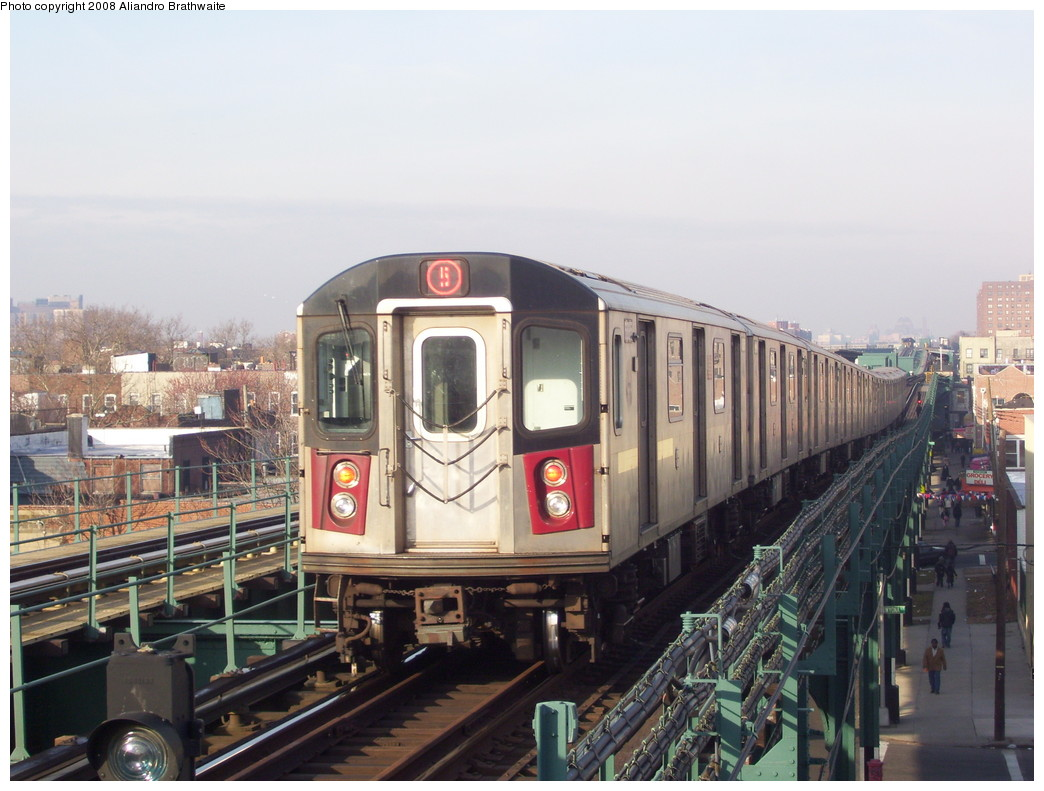 (215k, 1044x791)<br><b>Country:</b> United States<br><b>City:</b> New York<br><b>System:</b> New York City Transit<br><b>Line:</b> IRT Brooklyn Line<br><b>Location:</b> Van Siclen Avenue <br><b>Route:</b> 5<br><b>Car:</b> R-142 (Option Order, Bombardier, 2002-2003)  7010 <br><b>Photo by:</b> Aliandro Brathwaite<br><b>Date:</b> 3/7/2008<br><b>Viewed (this week/total):</b> 1 / 4294