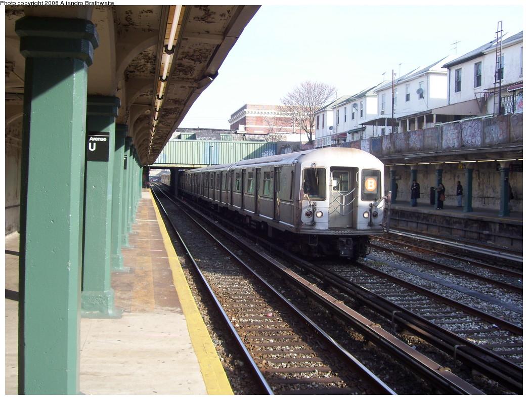 (261k, 1044x791)<br><b>Country:</b> United States<br><b>City:</b> New York<br><b>System:</b> New York City Transit<br><b>Line:</b> BMT Sea Beach Line<br><b>Location:</b> Avenue U <br><b>Route:</b> B reroute<br><b>Car:</b> R-40M (St. Louis, 1969)  4514 <br><b>Photo by:</b> Aliandro Brathwaite<br><b>Date:</b> 3/7/2008<br><b>Viewed (this week/total):</b> 0 / 2373