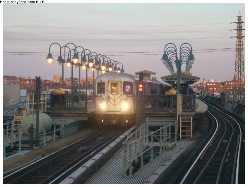 (160k, 819x619)<br><b>Country:</b> United States<br><b>City:</b> New York<br><b>System:</b> New York City Transit<br><b>Line:</b> IRT Flushing Line<br><b>Location:</b> 61st Street/Woodside <br><b>Route:</b> 7<br><b>Car:</b> R-62A (Bombardier, 1984-1987)   <br><b>Photo by:</b> Bill E.<br><b>Date:</b> 3/2/2008<br><b>Viewed (this week/total):</b> 6 / 2116
