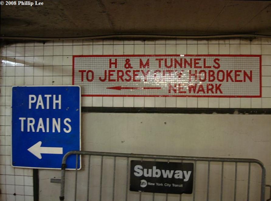 (83k, 891x662)<br><b>Country:</b> United States<br><b>City:</b> New York<br><b>System:</b> PATH<br><b>Location:</b> 14th Street <br><b>Photo by:</b> Phillip Lee<br><b>Date:</b> 2/25/2008<br><b>Viewed (this week/total):</b> 0 / 2030