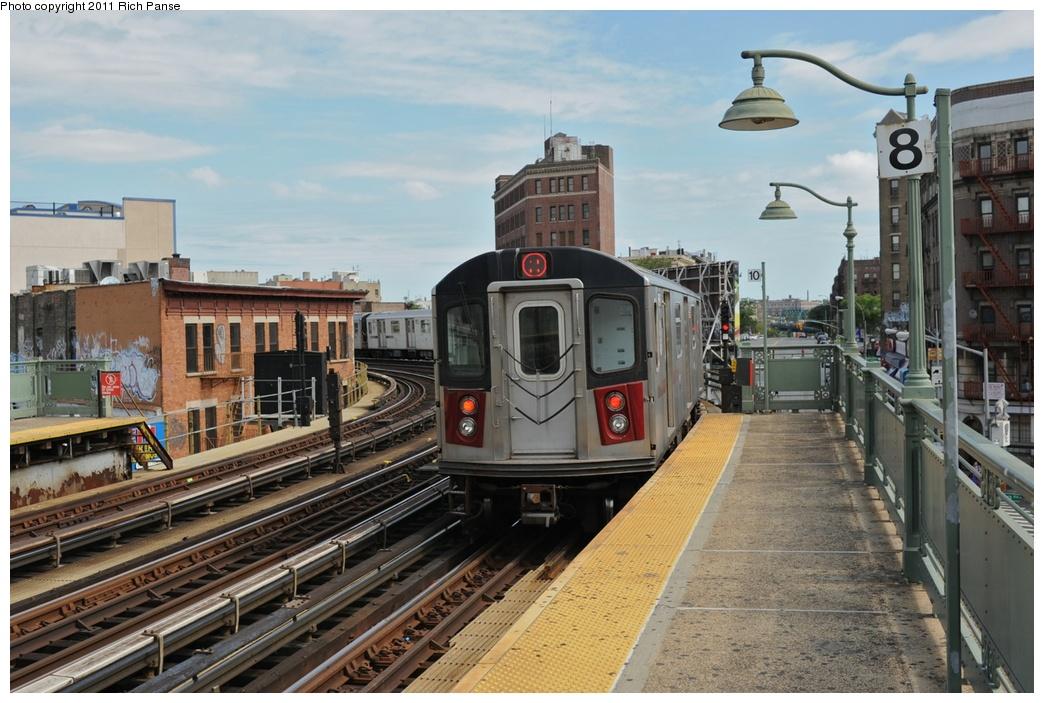 (283k, 1044x703)<br><b>Country:</b> United States<br><b>City:</b> New York<br><b>System:</b> New York City Transit<br><b>Line:</b> IRT White Plains Road Line<br><b>Location:</b> Simpson Street <br><b>Route:</b> 2<br><b>Car:</b> R-142 or R-142A (Number Unknown)  <br><b>Photo by:</b> Richard Panse<br><b>Date:</b> 9/11/2011<br><b>Viewed (this week/total):</b> 3 / 1104