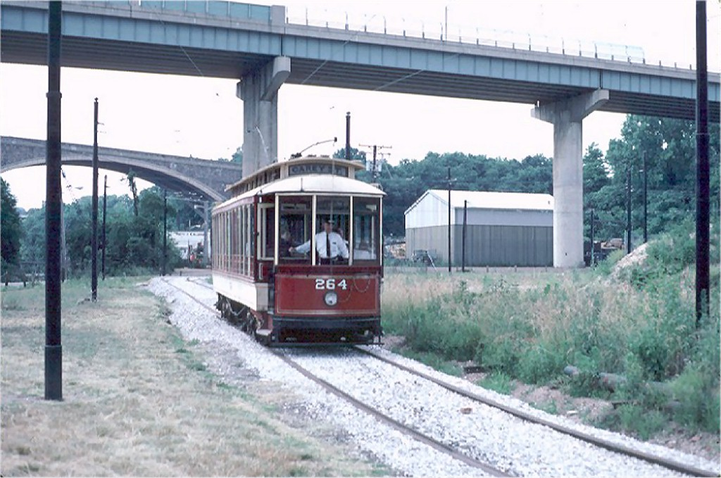 (180k, 1024x679)<br><b>Country:</b> United States<br><b>City:</b> Baltimore, MD<br><b>System:</b> Baltimore Streetcar Museum <br><b>Car:</b>  264 <br><b>Photo by:</b> Steve Zabel<br><b>Collection of:</b> Joe Testagrose<br><b>Date:</b> 6/22/1980<br><b>Viewed (this week/total):</b> 4 / 914