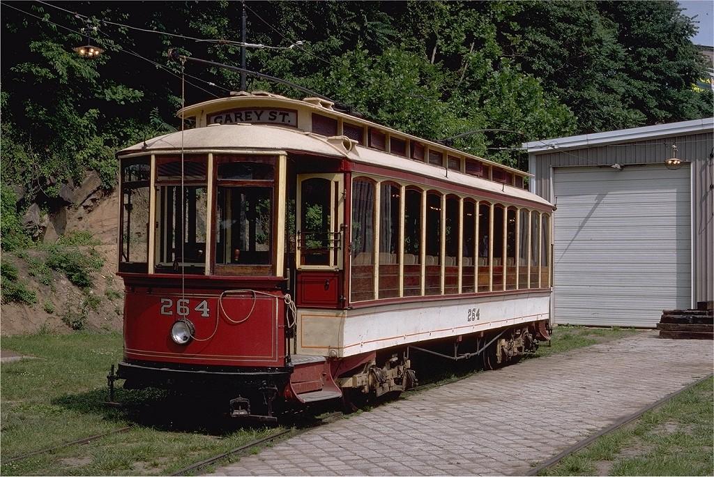 (303k, 1024x684)<br><b>Country:</b> United States<br><b>City:</b> Baltimore, MD<br><b>System:</b> Baltimore Streetcar Museum <br><b>Car:</b>  264 <br><b>Photo by:</b> Steve Zabel<br><b>Collection of:</b> Joe Testagrose<br><b>Date:</b> 6/22/1980<br><b>Viewed (this week/total):</b> 0 / 793