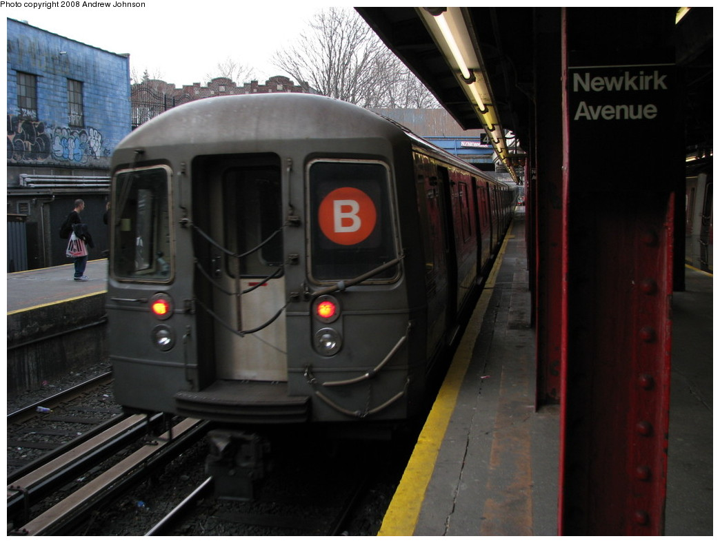 (180k, 1044x788)<br><b>Country:</b> United States<br><b>City:</b> New York<br><b>System:</b> New York City Transit<br><b>Line:</b> BMT Brighton Line<br><b>Location:</b> Newkirk Plaza (fmrly Newkirk Ave.) <br><b>Route:</b> B<br><b>Car:</b> R-68 (Westinghouse-Amrail, 1986-1988)  2786 <br><b>Photo by:</b> Andrew Johnson<br><b>Date:</b> 3/14/2008<br><b>Viewed (this week/total):</b> 1 / 1995