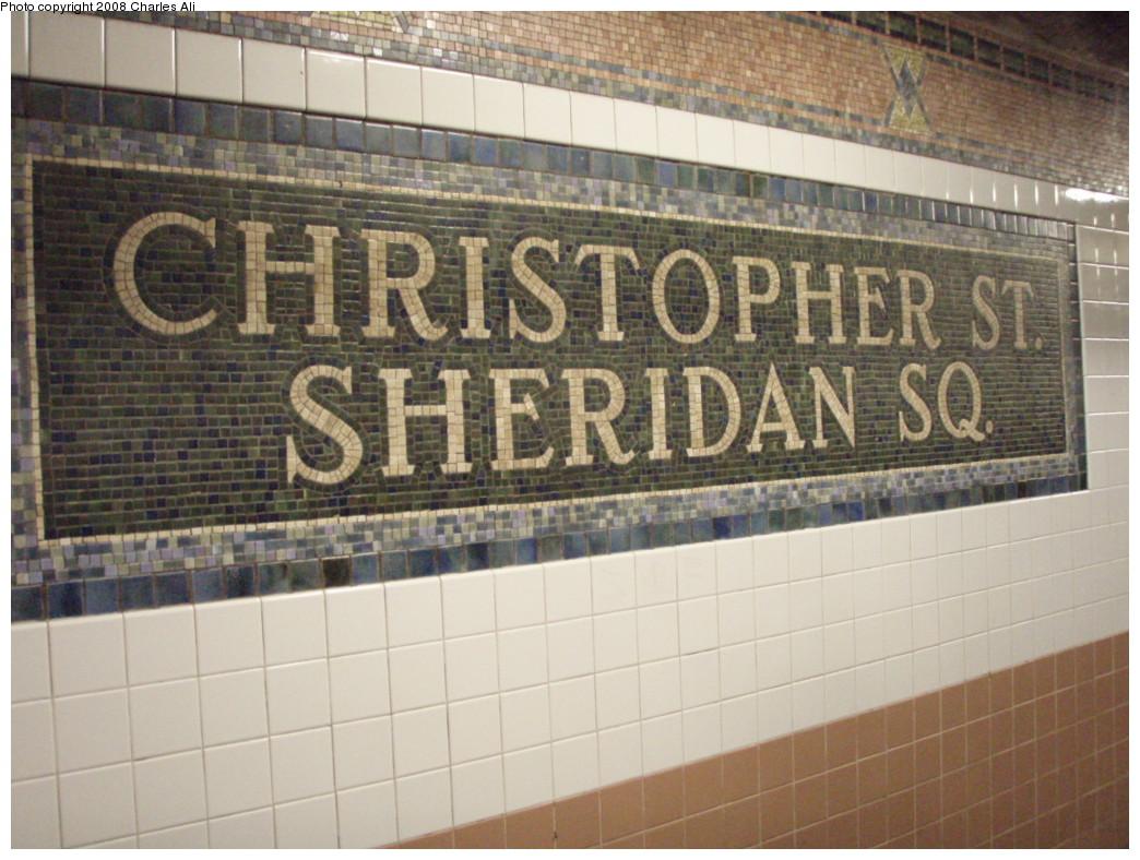(236k, 1044x788)<br><b>Country:</b> United States<br><b>City:</b> New York<br><b>System:</b> New York City Transit<br><b>Line:</b> IRT West Side Line<br><b>Location:</b> Christopher Street/Sheridan Square <br><b>Photo by:</b> Charles Ali<br><b>Date:</b> 3/9/2008<br><b>Viewed (this week/total):</b> 1 / 1497