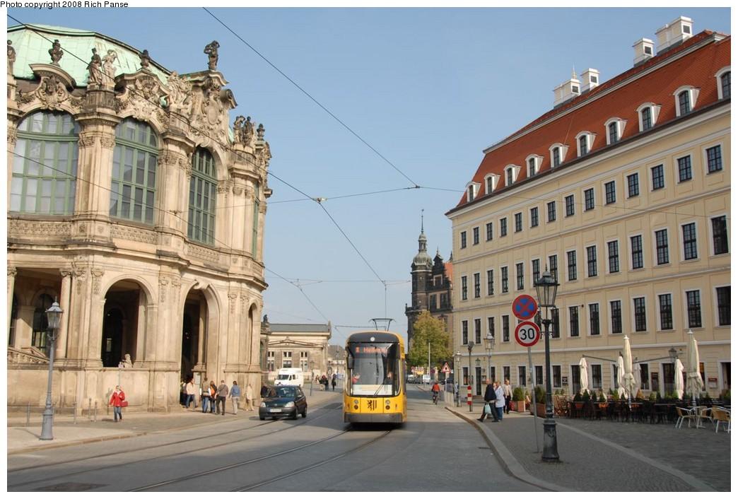 (197k, 1044x706)<br><b>Country:</b> Germany<br><b>City:</b> Dresden<br><b>System:</b> DVB (Dresdner Verkehrsbetriebe)<br><b>Route:</b> 8<br><b>Car:</b> Bombardier NGT8DD  2700/2800-series 2803 <br><b>Photo by:</b> Richard Panse<br><b>Date:</b> 10/10/2007<br><b>Viewed (this week/total):</b> 0 / 666