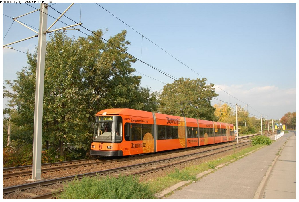 (218k, 1044x706)<br><b>Country:</b> Germany<br><b>City:</b> Dresden<br><b>System:</b> DVB (Dresdner Verkehrsbetriebe)<br><b>Location:</b> Hellersiedlung <br><b>Route:</b> 7<br><b>Car:</b> Bombardier NGT8DD  2700/2800-series 2710 <br><b>Photo by:</b> Richard Panse<br><b>Date:</b> 10/10/2007<br><b>Viewed (this week/total):</b> 2 / 544