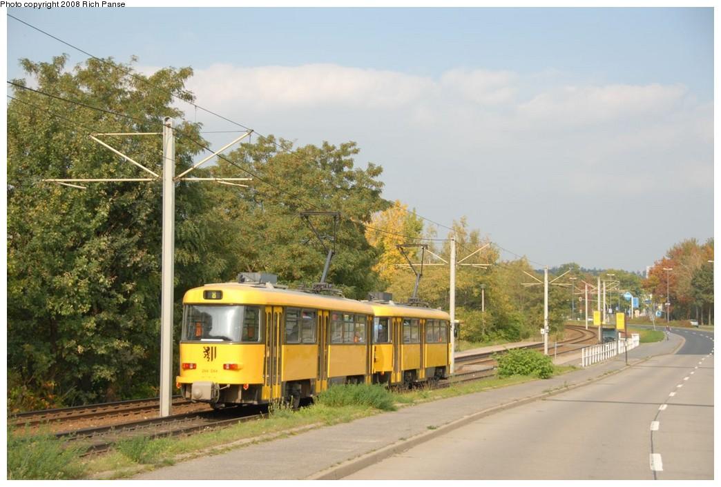 (209k, 1044x706)<br><b>Country:</b> Germany<br><b>City:</b> Dresden<br><b>System:</b> DVB (Dresdner Verkehrsbetriebe)<br><b>Location:</b> Hellersiedlung <br><b>Route:</b> 8<br><b>Car:</b> Tatra TB4D PCC  244-series 244044 <br><b>Photo by:</b> Richard Panse<br><b>Date:</b> 10/10/2007<br><b>Viewed (this week/total):</b> 3 / 565