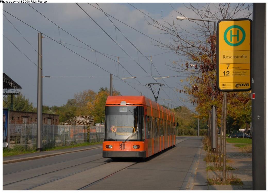 (166k, 1044x748)<br><b>Country:</b> Germany<br><b>City:</b> Dresden<br><b>System:</b> DVB (Dresdner Verkehrsbetriebe)<br><b>Location:</b> Rosen Strasse <br><b>Route:</b> 7<br><b>Car:</b> Bombardier NGT8DD  2700/2800-series 2710 <br><b>Photo by:</b> Richard Panse<br><b>Date:</b> 10/10/2007<br><b>Viewed (this week/total):</b> 0 / 507
