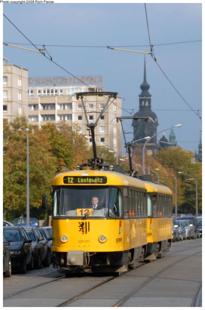 (144k, 692x1044)<br><b>Country:</b> Germany<br><b>City:</b> Dresden<br><b>System:</b> DVB (Dresdner Verkehrsbetriebe)<br><b>Location:</b> A. Althus Strasse <br><b>Route:</b> 12<br><b>Car:</b> Tatra TB4D PCC  244-series 244217 <br><b>Photo by:</b> Richard Panse<br><b>Date:</b> 10/10/2007<br><b>Viewed (this week/total):</b> 0 / 551