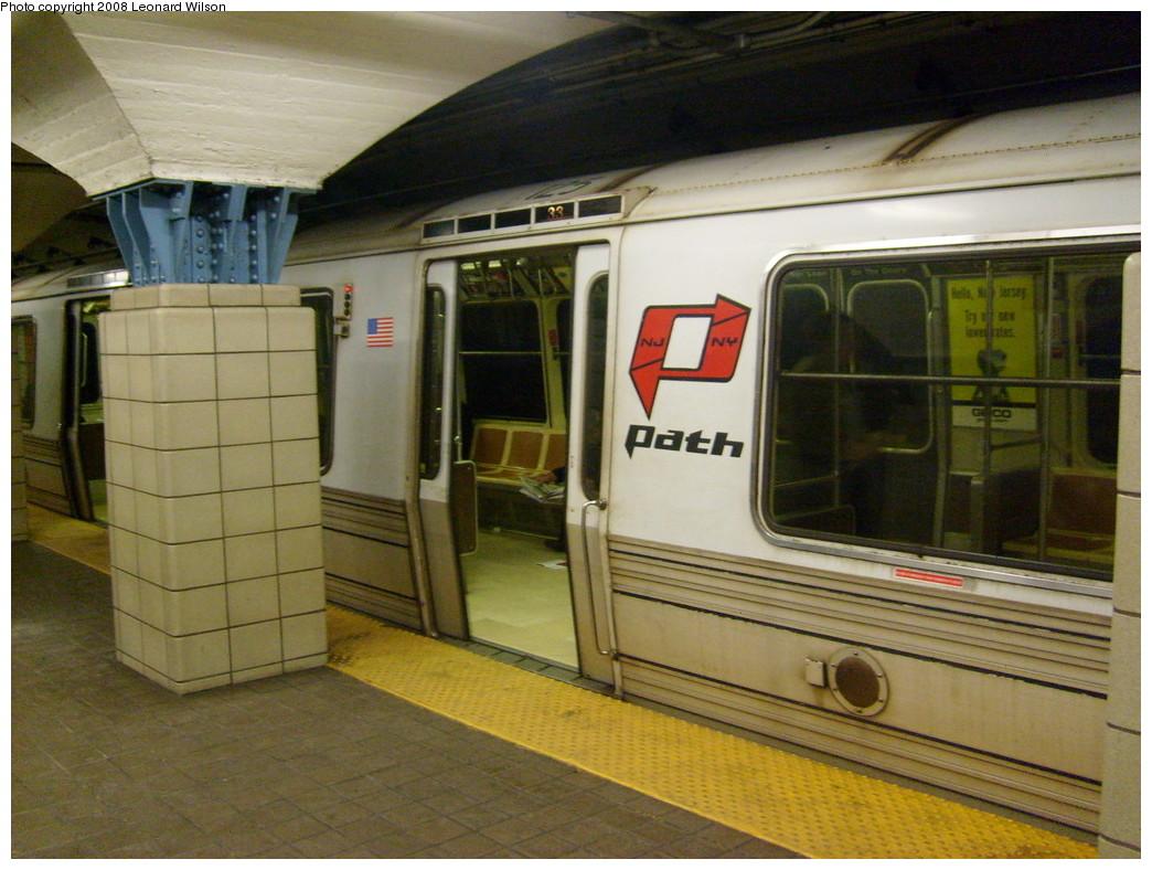 (255k, 1044x788)<br><b>Country:</b> United States<br><b>City:</b> Jersey City, NJ<br><b>System:</b> PATH<br><b>Location:</b> Grove Street <br><b>Car:</b> PATH PA-1 (St. Louis Car, 1965)  125 <br><b>Photo by:</b> Leonard Wilson<br><b>Date:</b> 2/25/2008<br><b>Viewed (this week/total):</b> 1 / 2274