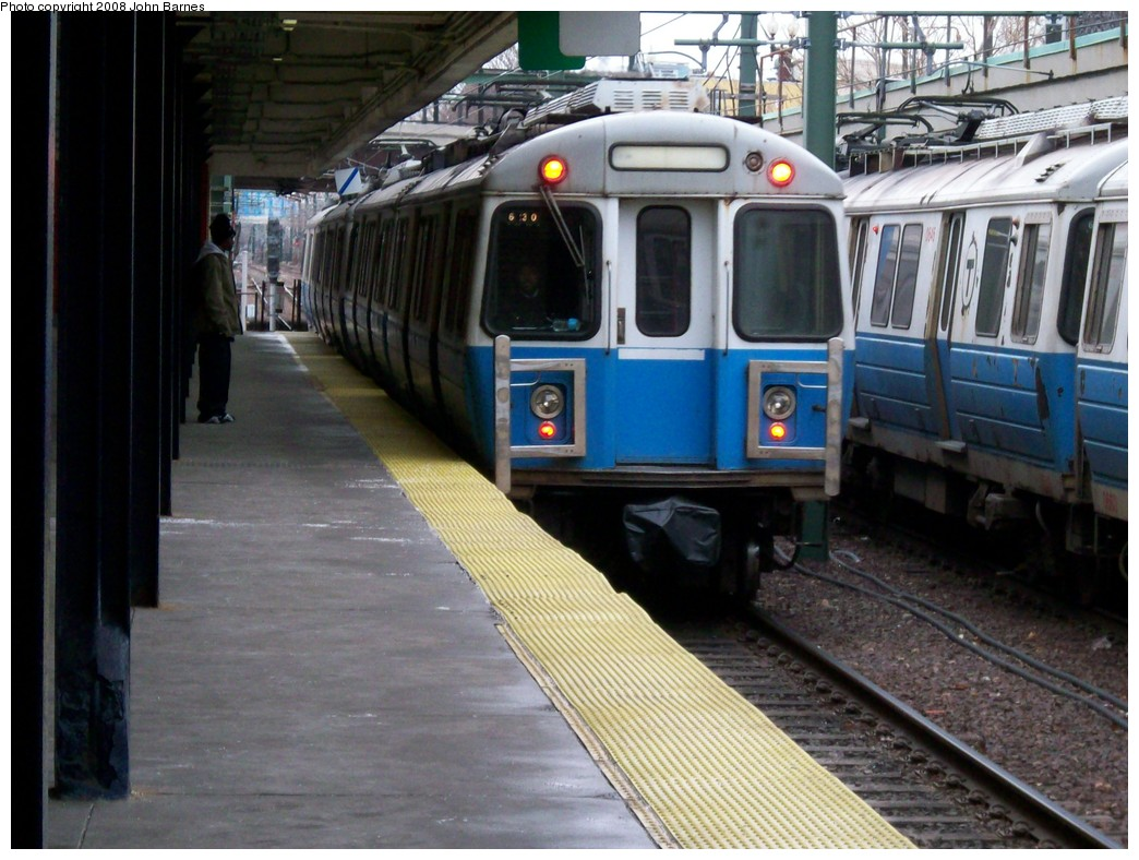 (222k, 1044x788)<br><b>Country:</b> United States<br><b>City:</b> Boston, MA<br><b>System:</b> MBTA<br><b>Line:</b> MBTA Blue Line<br><b>Location:</b> Orient Heights <br><b>Car:</b> MBTA 0600 Series (Hawker-Siddley, 1978-1980)  0630 <br><b>Photo by:</b> John Barnes<br><b>Date:</b> 2/12/2008<br><b>Viewed (this week/total):</b> 2 / 1087