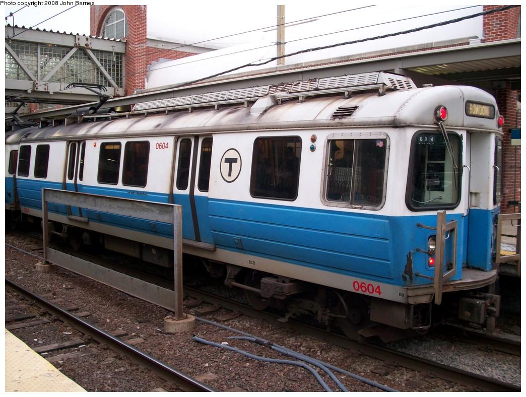 (250k, 1044x788)<br><b>Country:</b> United States<br><b>City:</b> Boston, MA<br><b>System:</b> MBTA<br><b>Line:</b> MBTA Blue Line<br><b>Location:</b> Wood Island <br><b>Car:</b> MBTA 0600 Series (Hawker-Siddley, 1978-1980)  0604 <br><b>Photo by:</b> John Barnes<br><b>Date:</b> 2/12/2008<br><b>Viewed (this week/total):</b> 0 / 1009