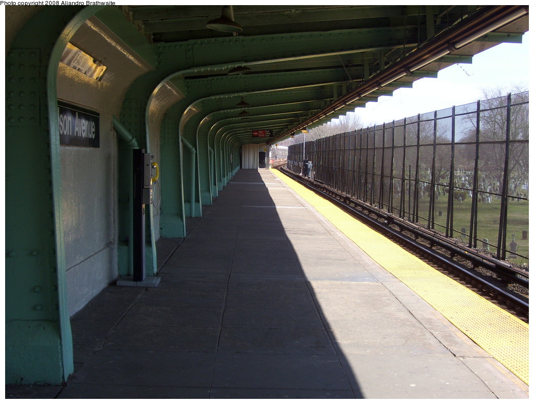 (224k, 1044x791)<br><b>Country:</b> United States<br><b>City:</b> New York<br><b>System:</b> New York City Transit<br><b>Line:</b> BMT Canarsie Line<br><b>Location:</b> Wilson Avenue <br><b>Photo by:</b> Aliandro Brathwaite<br><b>Date:</b> 3/22/2008<br><b>Notes:</b> Platform view.<br><b>Viewed (this week/total):</b> 1 / 1779