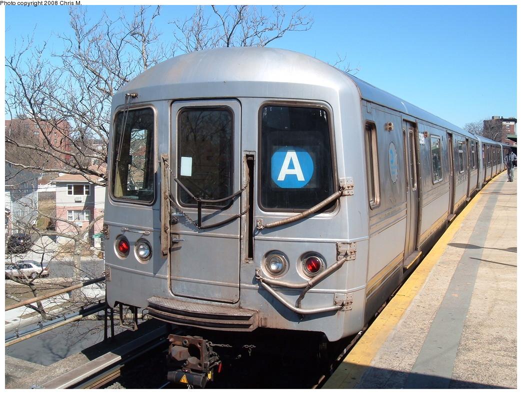 (289k, 1044x788)<br><b>Country:</b> United States<br><b>City:</b> New York<br><b>System:</b> New York City Transit<br><b>Line:</b> IND Rockaway<br><b>Location:</b> Mott Avenue/Far Rockaway <br><b>Route:</b> A<br><b>Car:</b> R-44 (St. Louis, 1971-73) 5398 <br><b>Photo by:</b> Chris M.<br><b>Date:</b> 3/17/2008<br><b>Viewed (this week/total):</b> 0 / 1333