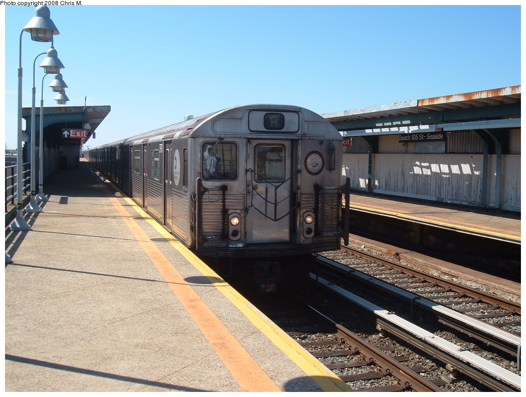 (246k, 1044x788)<br><b>Country:</b> United States<br><b>City:</b> New York<br><b>System:</b> New York City Transit<br><b>Line:</b> IND Rockaway<br><b>Location:</b> Beach 105th Street/Seaside <br><b>Route:</b> A<br><b>Car:</b> R-38 (St. Louis, 1966-1967)  3970 <br><b>Photo by:</b> Chris M.<br><b>Date:</b> 3/29/2008<br><b>Viewed (this week/total):</b> 1 / 1794