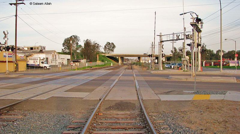 (155k, 800x449)<br><b>Country:</b> United States<br><b>City:</b> North San Diego County, CA<br><b>System:</b> San Diego Sprinter<br><b>Location:</b> Escondido Yard/Shops <br><b>Photo by:</b> Salaam Allah<br><b>Date:</b> 3/8/2008<br><b>Notes:</b> Yard lead on right- yard is behind photographer.<br><b>Viewed (this week/total):</b> 1 / 1373